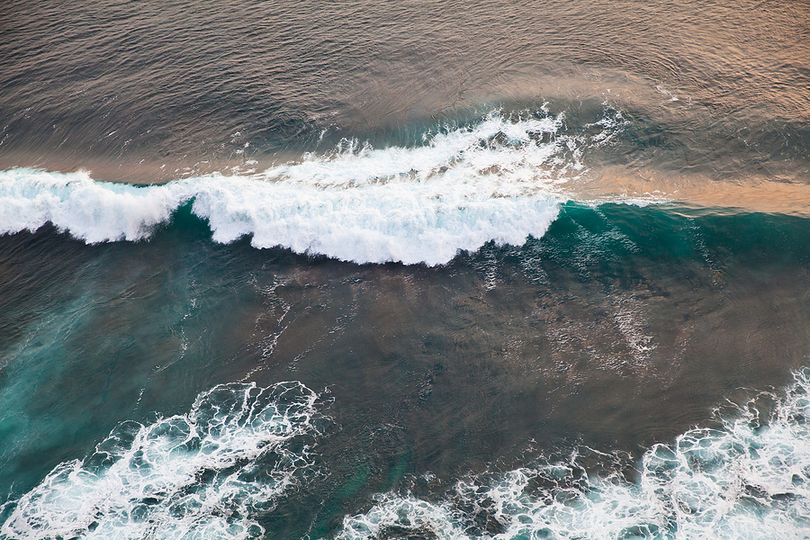 Top View On Sea Waves. Sea Surface During A Storm. Storm Waves.